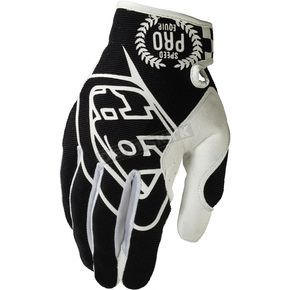 Troy Lee Designs Black/White SE Pro Gloves - 0604-0210