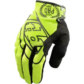 Troy Lee Designs Fluorescent Yellow/Black SE Pro Gloves - 0604-0510