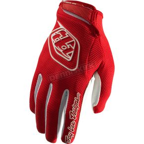 Troy Lee Designs Youth Red/White Air Gloves - 406003404