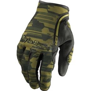 Troy Lee Designs Green Camo XC Gloves - 0664-0810