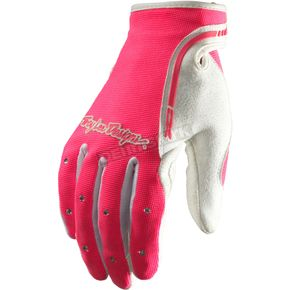 Troy Lee Designs Womens Pink/White XC Gloves - 429003004