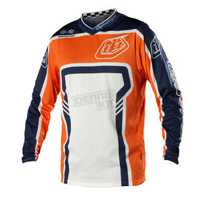 Troy Lee Designs Orange/Blue Factory GP Air Jersey - 0724-0710