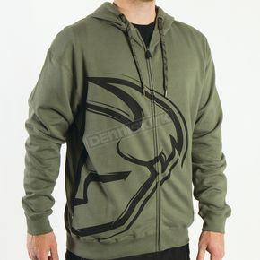 Thor Split Military Green Zip-Up Hoody - 3050-2508