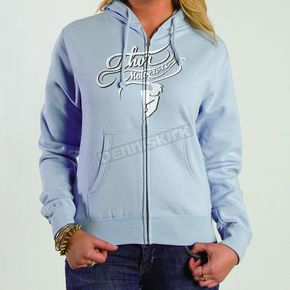 Thor Womens Curly Q Blue Zip-Up Hoody - 3051-0672