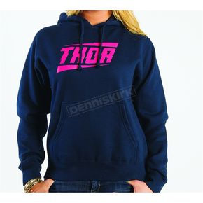 Thor Womens Voltage Navy Pullover Hoody - 3051-0684