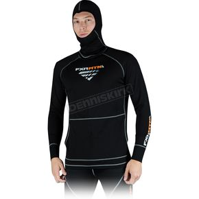 FXR Racing Black Merino Balaclava Pullover Long Sleeve Top - 14808.10019