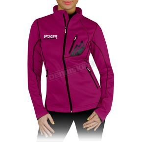 FXR Racing Womens Fuchsia Elevation Full Zip Long Sleeve Shirt - 13864