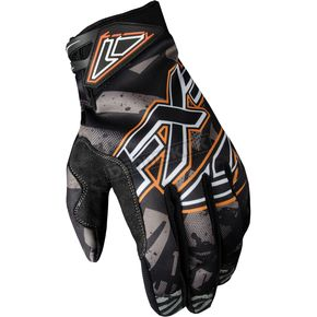 FXR Racing Charcoal Strike Cold Cross Race Gloves - 2804