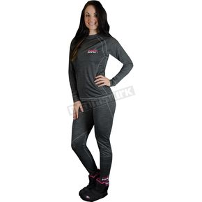 FXR Racing Womens Gray 50% Merino Base Pants - 14833.20013