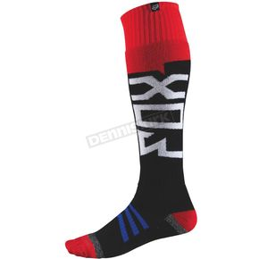 Fox Black/Red Thin Coolmax Intake Socks - 08010-017-M