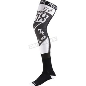 Fox White/Black Intake Proforma Knee Brace Socks - 09135-058-M