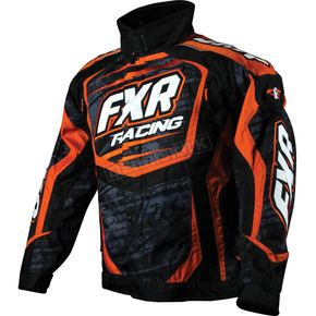 FXR Racing Charcoal Warp Orange Cold Cross Jacket - 14125