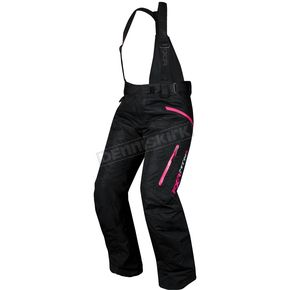 FXR Racing Womens Black/Fuchsia Vertical Pants - 14280