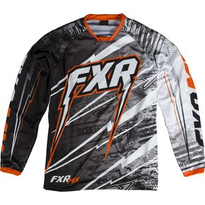 FXR Racing Black/White/Orange Podium Warp Jersey - 13770
