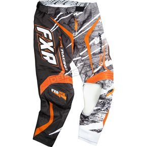 FXR Racing Black/White/Orange Podium Warp Pants - 13771
