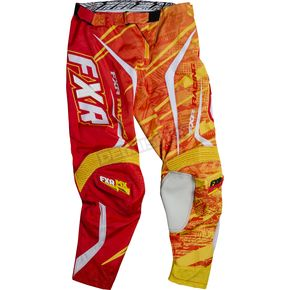 FXR Racing Yellow/Red Podium Warp Pants - 13771