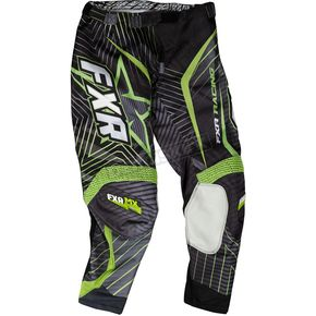 FXR Racing Black/Charcoal/Green Podium Star Pants - 13771