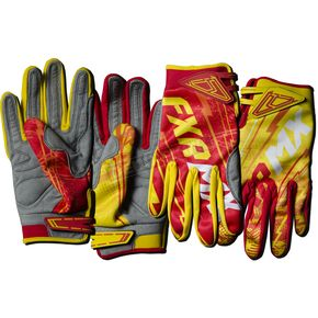 FXR Racing Yellow/Red Podium Warp Gloves - 13772
