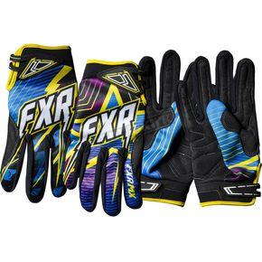 FXR Racing Cyan Podium Star Gloves - 13772