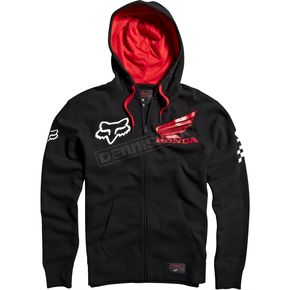 Fox Black Honda Zip Hoody - 09464-001-L