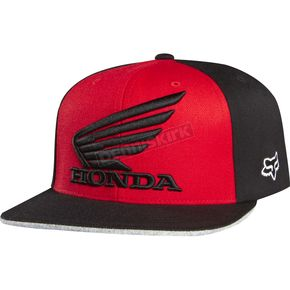 Fox Red/Black Premium Honda Flex-Fit Hat - 09471-055-L/XL