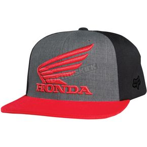 Fox Charcoal Heather Premium Honda Flex-Fit Hat - 09471-123-L/XL
