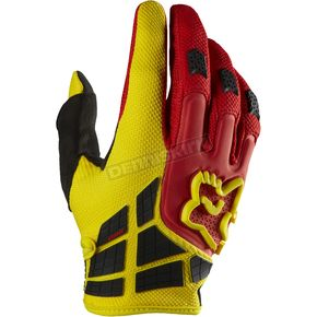 Fox Red/Yellow 360 Flight Gloves - 01031-080-L