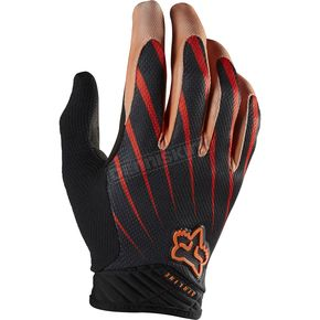 Fox Black/Orange Airline Gloves - 01090-016-L