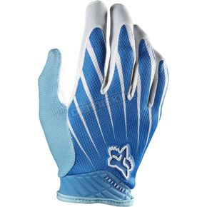 Fox White/Blue Airline Gloves - 01090-059-L