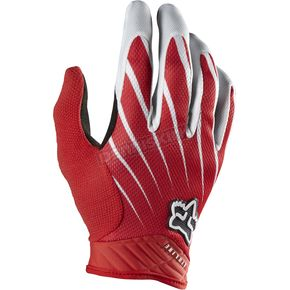 Fox White/Red Airline Gloves - 01090-077-L