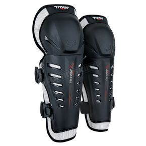 Fox Black Titan Race Knee Guard - 04267-001-OS