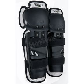Fox Youth Black Titan Sport Knee Guard - 04275-001-OS