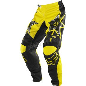 Fox Black/Yellow 180 Rockstar Pants - 06427-019-28