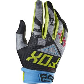 Fox Green/Blue 360 Intake Gloves - 07020-148-L