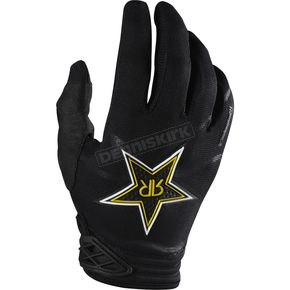 Fox Black Rockstar Dirtpaw Gloves - 07047-001-L