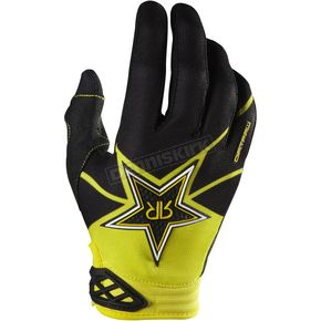 Fox Black/Yellow Rockstar Dirtpaw Gloves - 07047-019-L