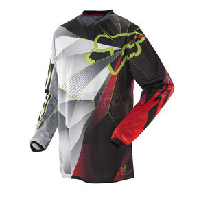 Fox Youth Red HC Radeon Jersey - 07066-003-L