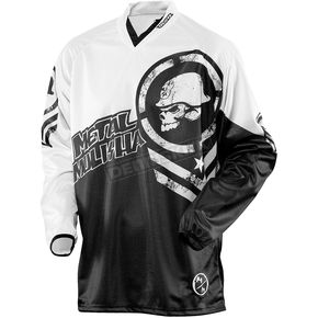 MSR Racing Black/White Optic Metal Mulisha Jersey - 351530