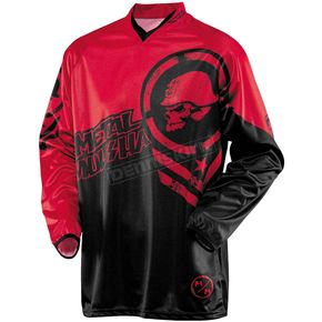MSR Racing Black/Red Optic Metal Mulisha Jersey - 351660