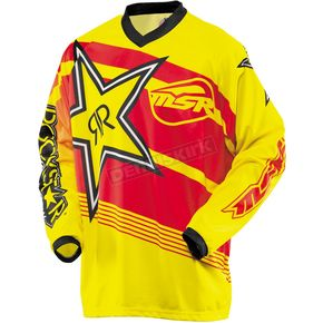 MSR Racing Youth Yellow/Red Rockstar Jersey - 351706