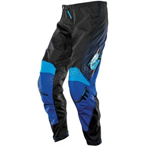 MSR Racing Black/Blue/Cyan Axxis Pants - 351796