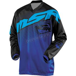 MSR Racing Youth Black/Blue/Cyan Axxis Jersey - 351866