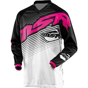 MSR Racing Womens Black/Pink Starlet Jersey - 351978
