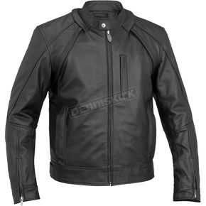 River Road Black Mortar Leather Jacket - 09-4999