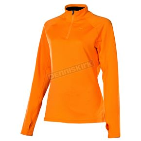 Klim Womens Orange Popsicle Elevation Zip Shirt - 4027-000-140-400