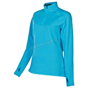 Klim Womens Scuba Blue  Elevation Zip Shirt - 4027-000-140-200