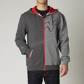Fox Heather Graphite Enigma Zip Hoody - 08640-185-S