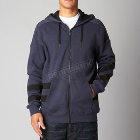 Fox Heather Navy Rebate Zip Hoody - 08650-428-M