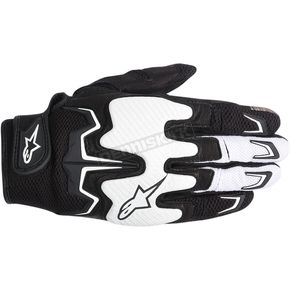 Alpinestars Black/White Fighter Air Gloves  - 3567514-12-3X