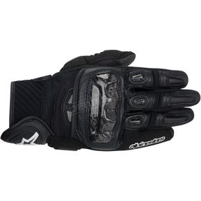 Alpinestars Black GP-Air Leather Gloves  - 3567914-10-S